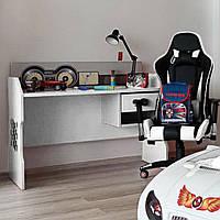 Детский компьютерный стол Форсаж Белый