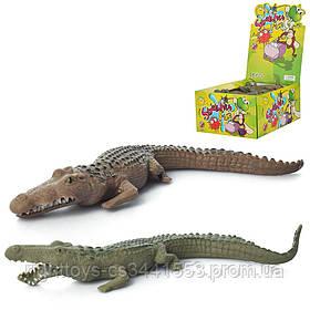 Животное A107-DB (200шт) крокодил, 16см, 100шт(цвета) в дисплее, 28-21-12,5см
