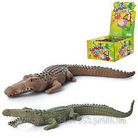 Животное A107-DB (250шт) крокодил, 16см, 125шт(2 цвета) в дисплее, 28-22-12см