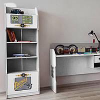 Детский книжный шкаф Форсаж Белый