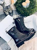 Кожаные ботинки JIMMY CHOO  (реплика), фото 1