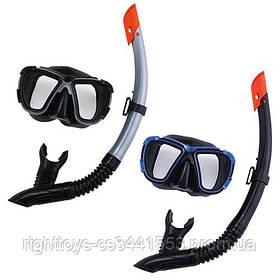BW Набор для плавания 24021 (6шт) маска,трубка,регулир.ремешок,2цв,в сетке,
