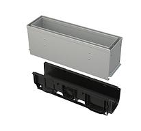 Щелевой дренажный канал 160 мм с асимметричной надставкой из оцинкованной стали С250