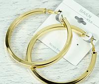 Серьги кольца металлические Золото, Серебро