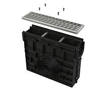 Пескоуловитель для дренажного канала AVZ102 с пластиковой рамой и оцинкованной решеткой В125