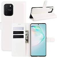 Чехол-книжка Litchie Wallet для Samsung G770 Galaxy S10 Lite White
