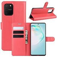 Чехол-книжка Litchie Wallet для Samsung G770 Galaxy S10 Lite Red