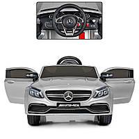 Детский электромобиль Mercedes Bambi M 4010EBLRS-11 Серый, с автопокраской, кожаное сиденье