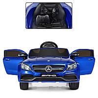 Детский электромобиль Mercedes Bambi M 4010EBLRS-4 Синий, с автопокраской, кожаное сиденье