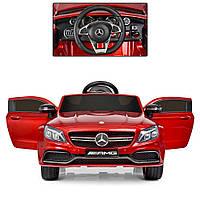Детский электромобиль Mercedes Bambi M 4010EBLRS-3 Красный, с автопокраской, кожаное сиденье