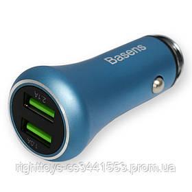 Автомобильная зарядка Baseus Car Charger (2 USB) 5V (2A) Blue