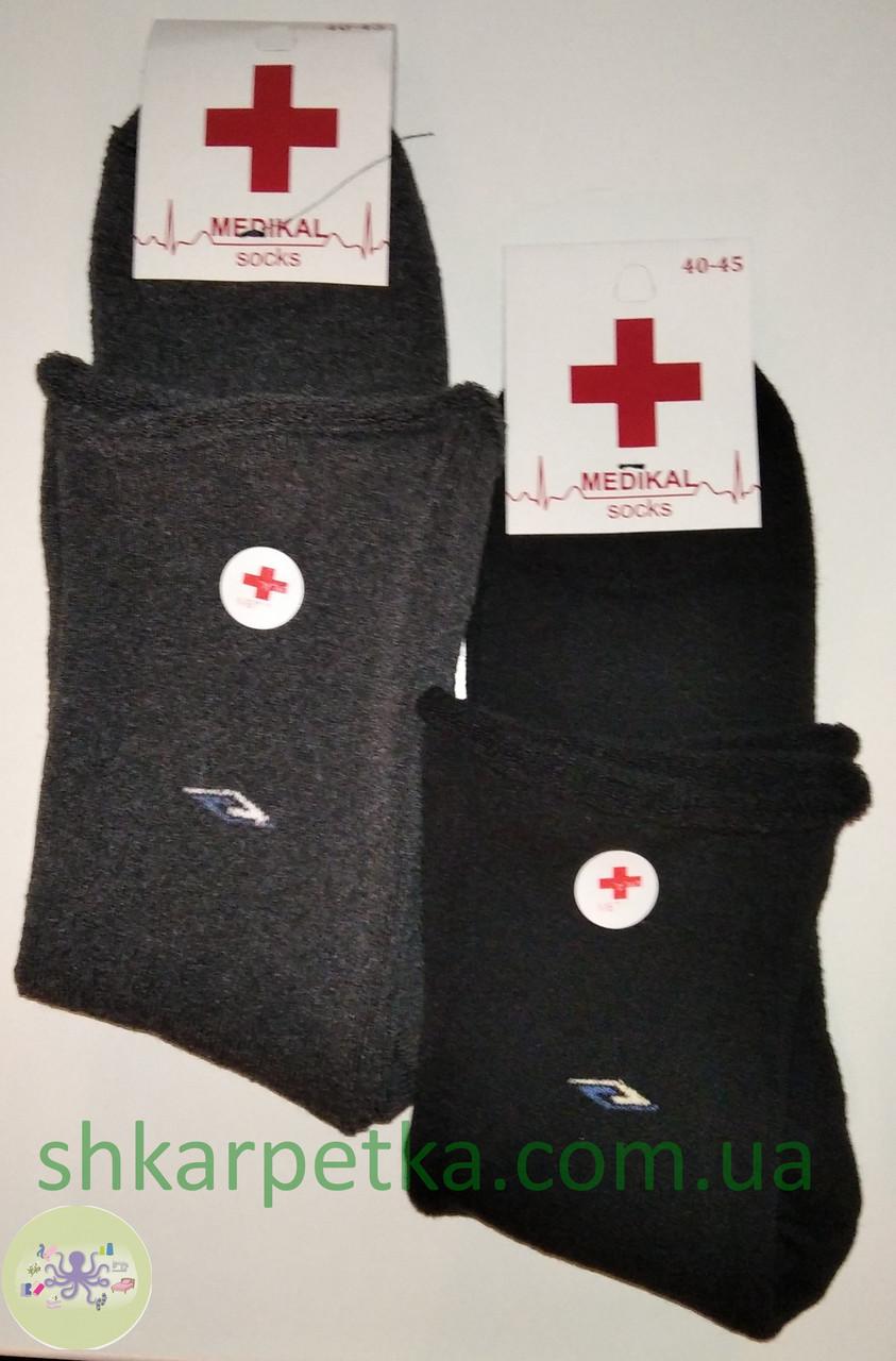 Медичні чоловічі махрові шкарпетки