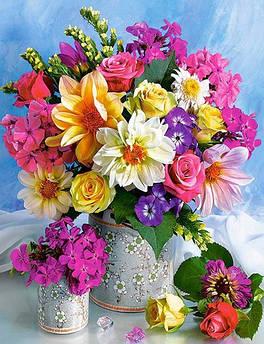 Квіти, букети, натюрморти - алмазна вишивка
