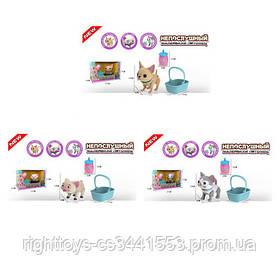 Животное E5599-11-12-13 (18шт) 12см,муз,зв,св,бутылочка, корзина, 3вида,бат,в кор-ке, 27,5-17-16,5см