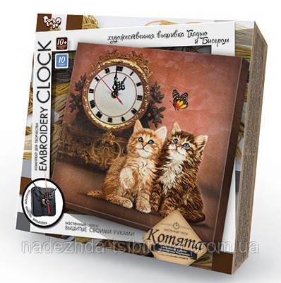 Настенные часы вышивка