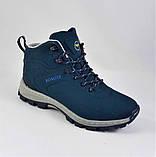 Ботинки ЗИМНИЕ Мужские Синие Кроссовки МЕХ (размеры: 41,42,43,45,46) Видео Обзор, фото 3