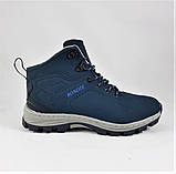 Ботинки ЗИМНИЕ Мужские Синие Кроссовки МЕХ (размеры: 41,42,43,45,46) Видео Обзор, фото 4
