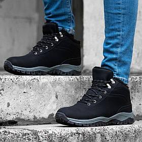 Ботинки ЗИМНИЕ Мужские Кроссовки МЕХ Чёрные (размеры: 43) - 632