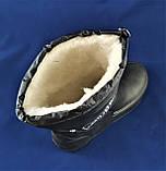 Мужские Сапоги Columb!e Зимние Пенка Дутики на Меху Черные (размеры: 45,46), фото 3
