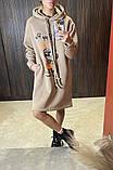 Теплое платье-туника из трехнитки 23-615, фото 7