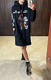 Теплое платье-туника из трехнитки 23-615, фото 6