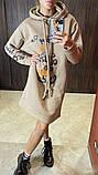Теплое платье-туника из трехнитки 23-615, фото 3