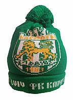Зимняя шапка с символикой ФК Карпати