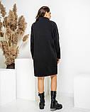 Теплое платье-туника из трехнитки 23-614, фото 5