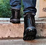Ботинки Зимние New Balance Кроссовки Мужские на Меху Синие (размеры: 40,41,42,43,45) Видео Обзор, фото 5