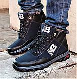 Ботинки Зимние New Balance Кроссовки Мужские на Меху Синие (размеры: 40,41,42,43,45) Видео Обзор, фото 7