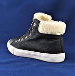 Зимние Женские Кроссовки на Меху Черные Ботинки (размеры: 36,37,38,39,40), фото 4