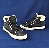Зимние Женские Кроссовки на Меху Черные Ботинки (размеры: 36,37,38,39,40), фото 7