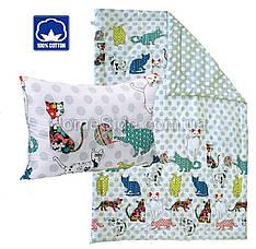 Одеяло + Подушка полуторное 140x205 Сатин Хлопок 200г/м2 Руно 924.137Cat