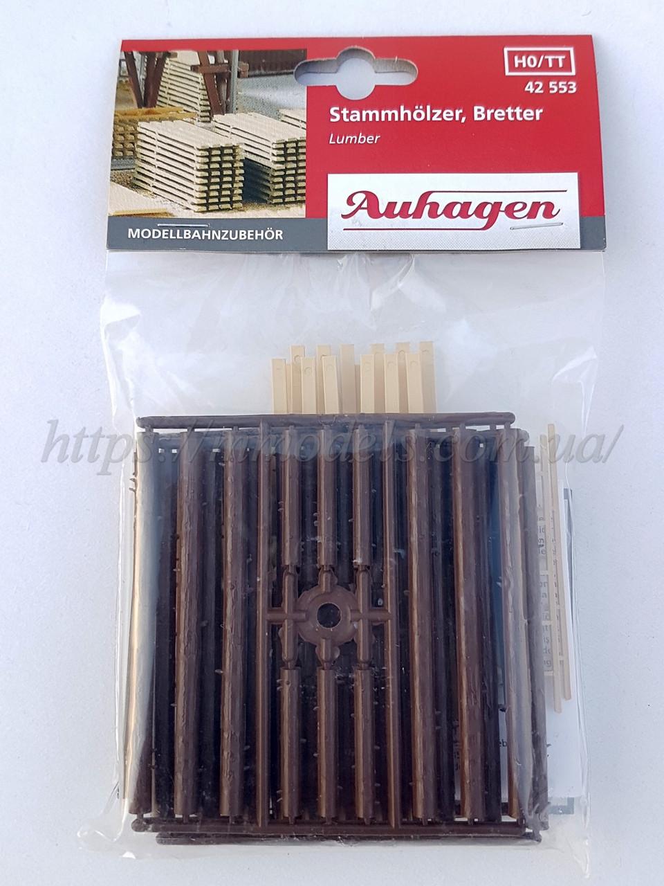 Auhagen 42553 набор досок и бревен и лестниц для моделирования, масштаба 1:87 и 1:120
