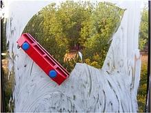 Щетка магнитная для мытья окон с двух сторон Glider- D1031 Новинка Красная губка