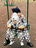 Комбинезон (термо) детский зимний Мордочки на сером, фото 2