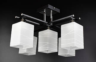 Люстра потолочная на 5 лампочек 50611/5 Черный 30х46х46 см.