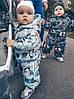 Термо-Комбинезон детский зимний Мордочки на сером, фото 3