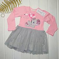 Плаття святкове для дівчинки з фатіном  Розміри 92 98 104 110 116