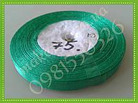 Лента для упаковок атласная зеленая