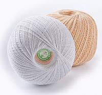 """Нитка для вязания """"Лилия"""" хлопок 100% цвет молочный"""