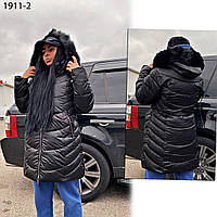 Куртка черная женская зимняя батальная 1911-2