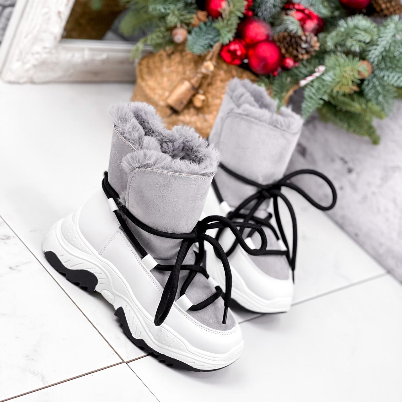 Ботинки женские Snowex белые 2618