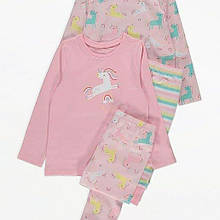 Пижама детская единорог George 98-104 см 2 комплекта
