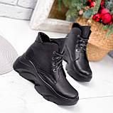 Ботинки женские Unnik черные кожа 2617, фото 2