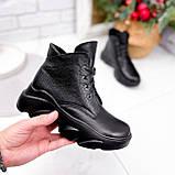Ботинки женские Unnik черные кожа 2617, фото 3