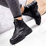 Ботинки женские Unnik черные кожа 2617, фото 6