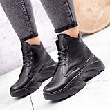 Ботинки женские Unnik черные кожа 2617, фото 4