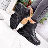 Ботинки женские Unnik черные кожа 2617, фото 5