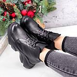 Ботинки женские Unnik черные кожа 2617, фото 7